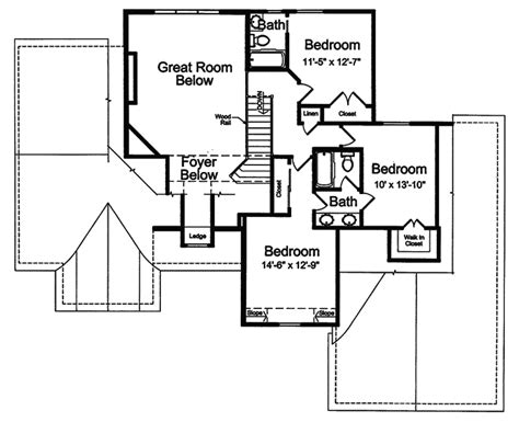 floor plan arts and crafts home