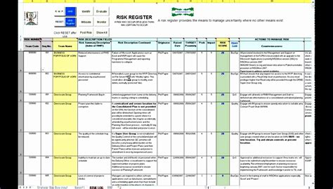 10 Risk Assessment Template Excel Exceltemplates Exceltemplates Risk Register Excel Template Free