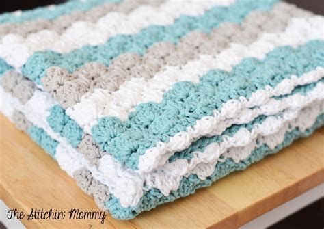 shell pattern crochet video crochet shell stitch baby blanket 183 how to make a baby