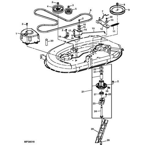 L Parts Deere L100 L105 L107 L108 L110 L111 L118 Deck Parts