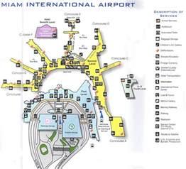 Miami Terminal Map by Miami International Airport Miami United States