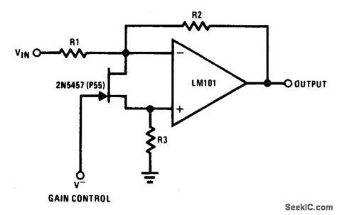 voltage controlled variable resistor ic voltage controlled variable gain lifier 1 lifier circuit circuit diagram seekic