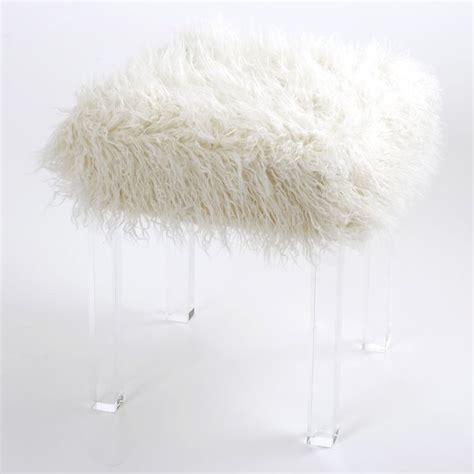 gray fur vanity stool amazonsmile best home fashion mongolian faux fur