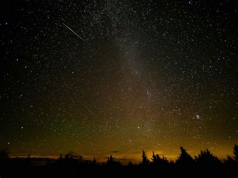 Where In The Sky Is The Meteor Shower by Perseid Meteor Shower Peak Creates Cosmic Display Of Light