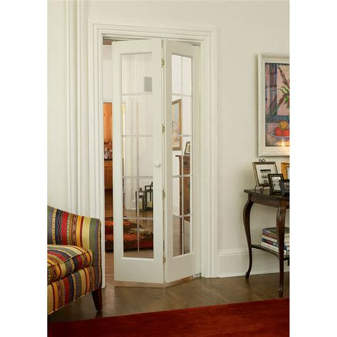 Bifold Closet Doors With Glass Awc 537 Pioneer Glass Bifold Door Walmart