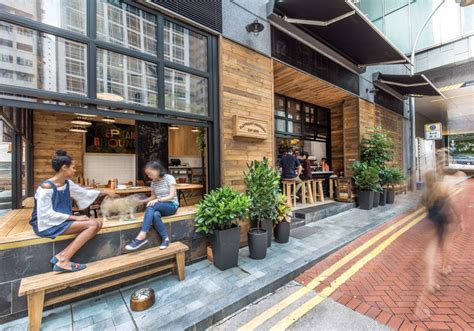 design coffee shop outdoor this new coffee shop in hong kong is designed to interact