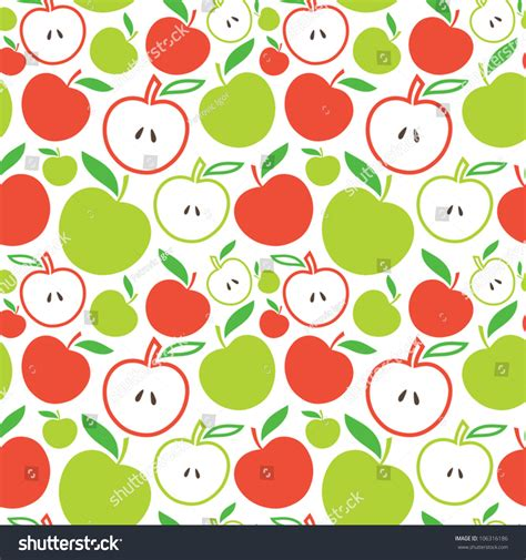 pattern apple background seamless apple background vector pattern 106316186