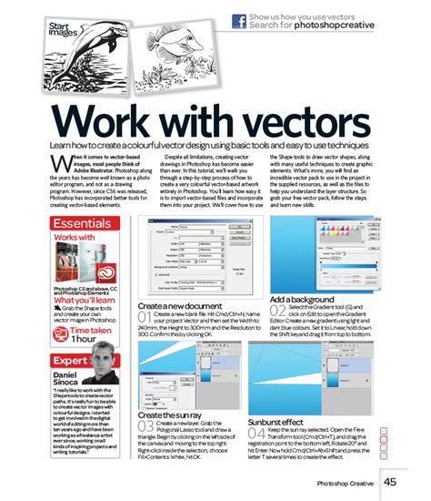basic vector tutorial in photoshop tutorial work with vectors how to use vectors in photoshop