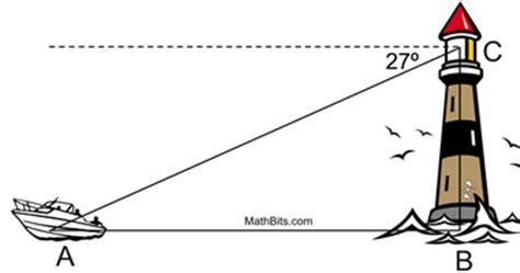 trigonometry word problems practice mathbitsnotebook(geo