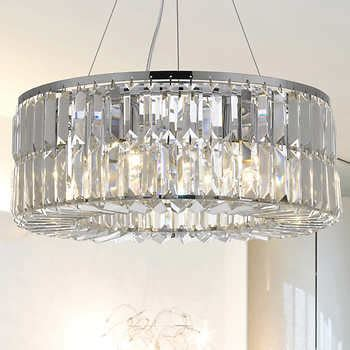 Lighting By Pecaso Moderno Chandelier In Chrome Costco Lighting Chandeliers