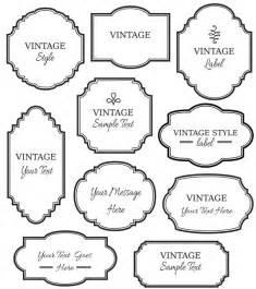 clip art vintage labels digital frame vector eps