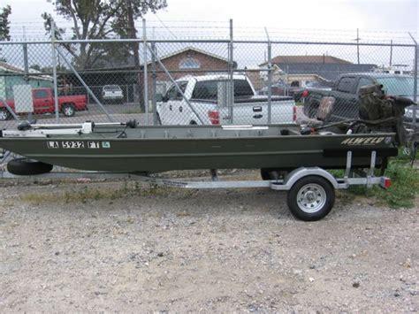 alweld boat with mud motor 16 alweld with 35hp mudbuddy louisiana sportsman