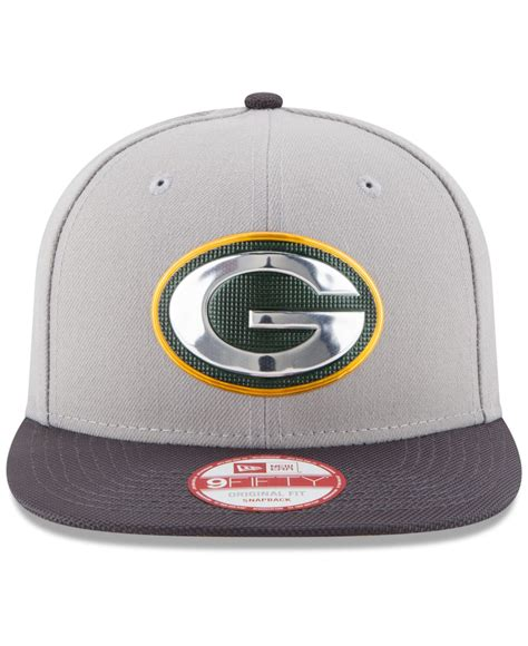 Ny Gb Cap Snapback lyst ktz green bay packers gold collection 9fifty snapback cap in gray for