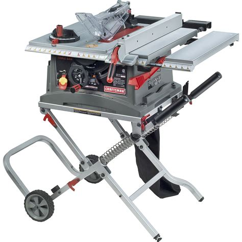 craftsman bench saw craftsman 10 quot jobsite table saw with folding stand 28463