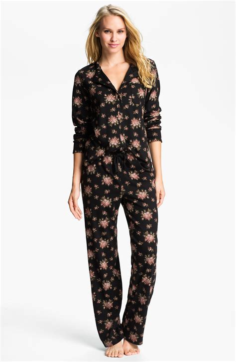 knit pajama carole hochman designs interlock knit pajamas in black