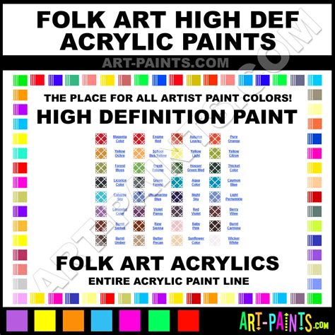 folk high definition acrylic paint colors folk high definition paint colors high