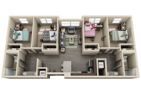 apartments with 4 bedrooms room types uk housing