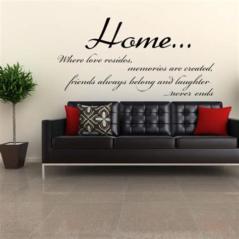 Home Wall Sticker home where love resides wall sticker decals