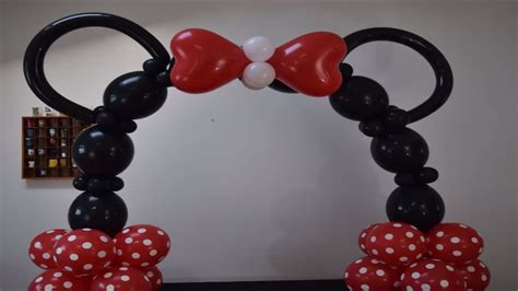 minnie mouse decorations diy simple minnie mouse balloon arch tutorial how to