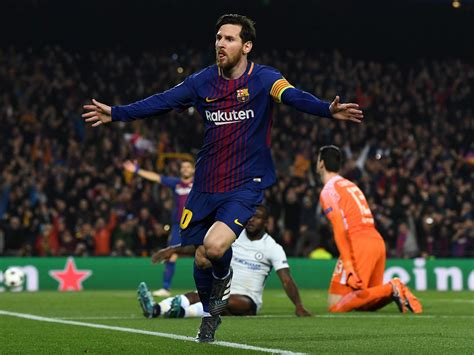 film dokumenter lionel messi barcelona into the chions league last eight after