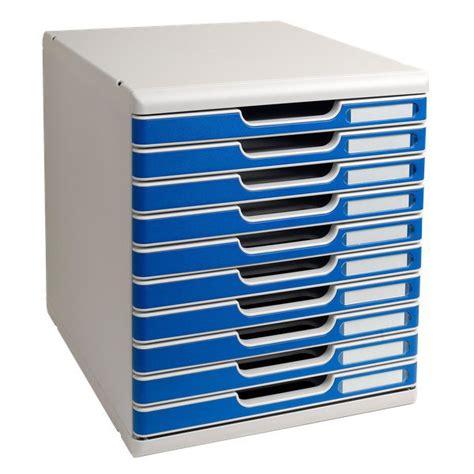 cassettiere ufficio cassettiera modulo a4 exacompta grigio chiaro 10