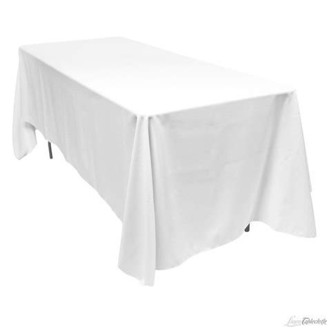 table with white tablecloth white tablecloth rectangle