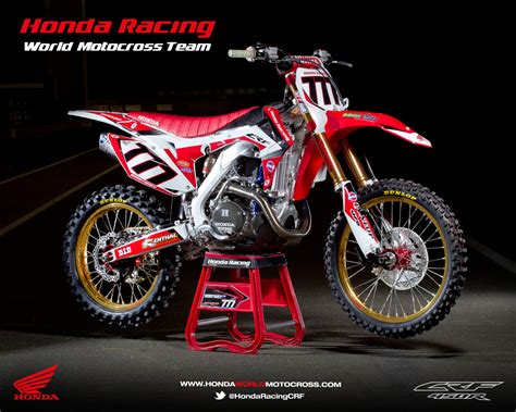 honda racing motocross racing caf 232 honda crf 450r world motocross team 2013