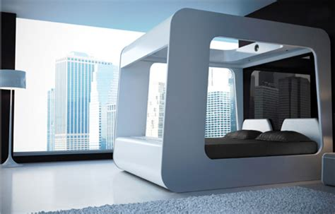 hican bed futuristic bed with built in tv movie screen video