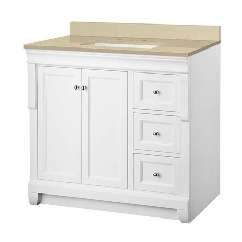 Foremost Naples Vanity White by Foremost Naples 37 In W X 22 In D Vanity In White With