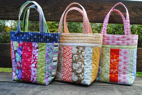 Patchwork Tote Bag Pattern Free - pretty patchwork totes to make from scraps quilting digest