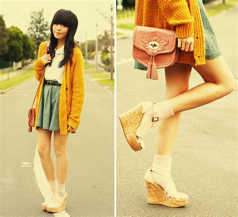 Blouse Cewek Viera Mustard connie cao chic wish bag betts wedges handmade skirt outfitters cardigan vintage