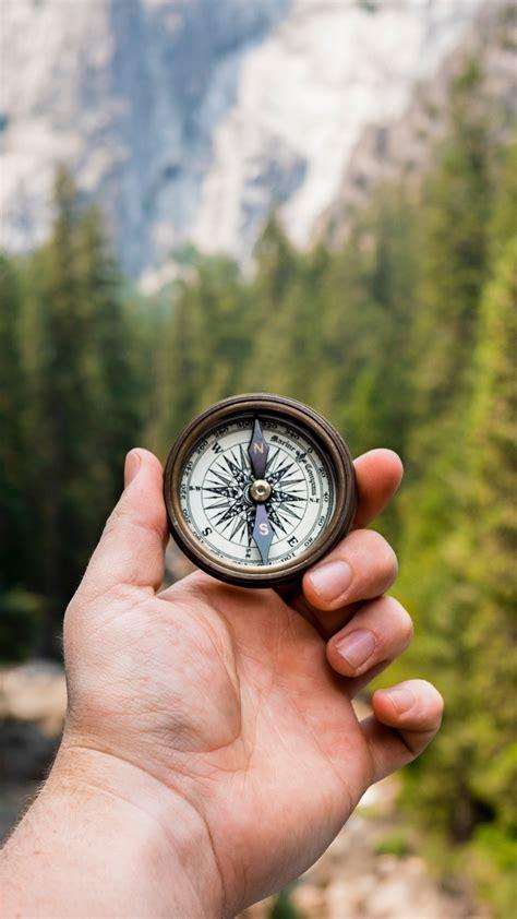 compass hand direction wallpaper