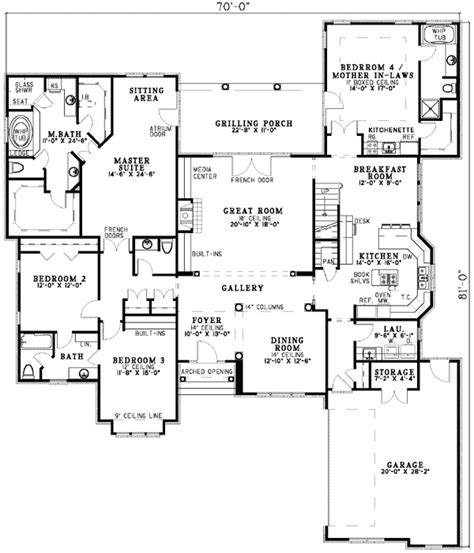 house plans with inlaw apartment in suite on flat plans garage