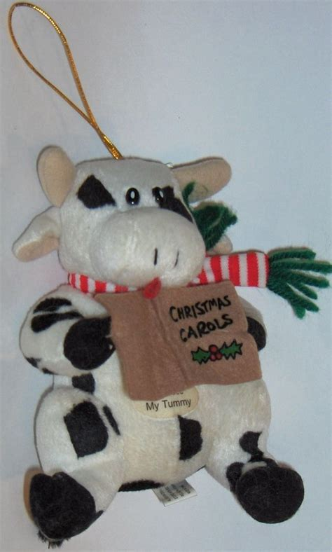 singing christmas cow ornament christmas carols moos