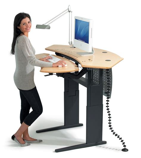Working On A Standing Desk Fancy Girl Designs Standing Office Desk