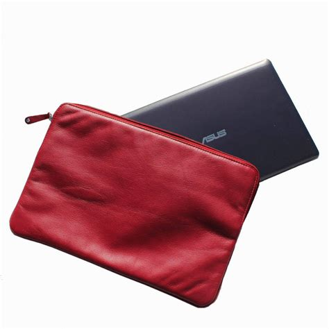 personalised leather laptop sleeve by nv london calcutta