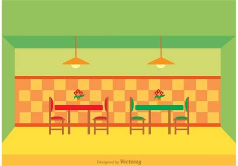 cafe interior design vector restaurant interior vector download free vector art
