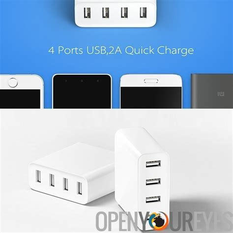 Charger Xiaomi 4 Port Usb 2a Ere Fast Charging xiaomi usb charger 4 ports 2a fast charge ac 100 240v worldwide usage compact design