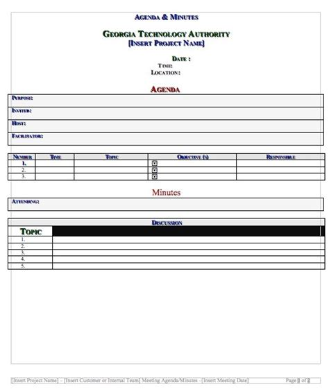 Minutes Template 20 handy meeting minutes meeting notes templates