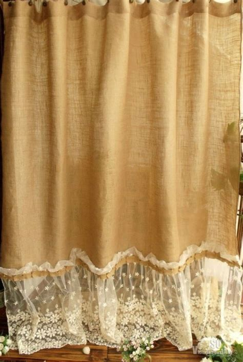 Burlap And Lace Curtains Burlap And Lace Curtains Www Pixshark Images Galleries With A Bite