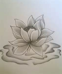 Lotus Pencil Sketch Lotus Flower By Ink Side On Deviantart