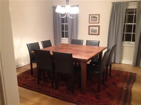 Square 8 Seat Dining Table In Customer S Home Farmhouse