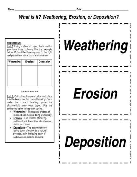 Weathering And Erosion Worksheets by Weathering And Erosion Worksheet Abitlikethis