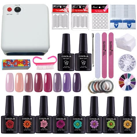 gel top coat no uv light new manicure set gel nail l nail art kits gel polish