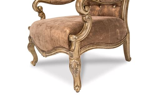 Vintage Accent Chair Platine De Royale Beige Accent Chair With Antique Platinum Finish