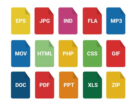 format file types file formats icons 30 free icons svg eps psd png files