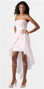 strapless lace high low prom dresses by aidan mattox