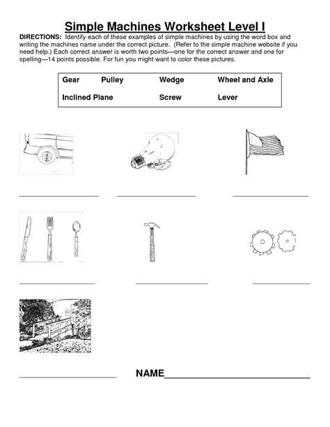 Simple Machine Worksheet by 11 Best Images Of Simple Machines Worksheets Grade 2 3rd
