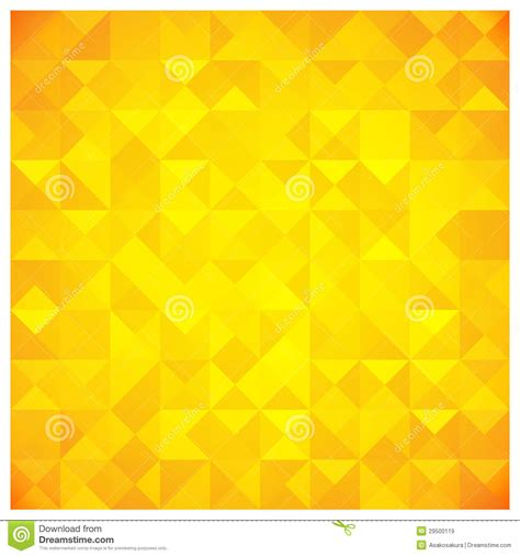 yellow abstract pattern triangle and square yellow abstract pattern stock vector