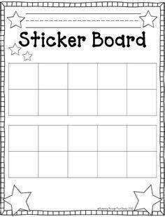 sticker book template best 25 behavior sticker chart ideas on